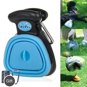 Dog Pet Pooper Scooper Portable Excreta Poop Clean Waste Pick Up w/Garbage Bag
