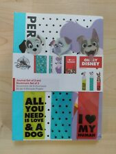 3 New Sealed Oh My Disney Classic Dog Journal Bookmark Notebook  Set