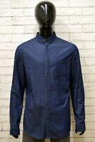 Camicia Uomo KIOMI Taglia XL Maglia Shirt Man Cotone Manica Lunga Blu Regular