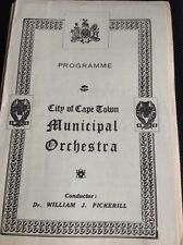 G7-1 Programme Sth Africa City Of Cape Town Municipal Orchestra June 15th 1944