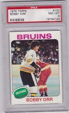 Bobby Orr 1975 - 1976 Topps #100 Hockey Card Graded PSA 8 NM-MT