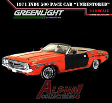 "GREENLIGHT 50816 1:18 1971 DODGE CHALLENGER INDY 500 PACE CAR ""UNRESTORED"" 1/300"