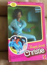 Vtg Beauty Secrets Christie Barbie Doll 1979 #1295 AA Black extra long Hair MIB