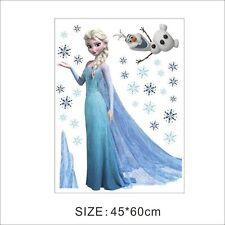 Disney Elsa Anna Frozen Princess Wall Stickers Decals Removable Kids Room Decor
