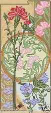 Kit punto croce fiori VERNISSAGE GAROFANO 12x27cm chiodi di FAI TE #cp5571