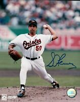Sid Fernandez Signed 8X10 Photo Autograph Baltimore Orioles Pitching w/COA