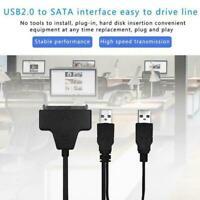 "USB To Sata External HDD SSD Hard Disk Dirive Adapter Converter Lead 2.5"" N9W4"
