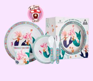 Ashdene Mermaid Kids Baby Toddler 5 Piece Dinner Set Bowl Cup Plate Spoon Fork