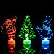 Creative Christmas Tree Night Light LED Multicolor Home Lamp Xmas Ornaments Gift