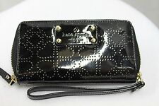 Kate Spade Jazzy Metro Black Patent Perforated Wristlet Wallet MSRP $158 NEW