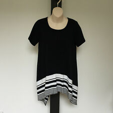 'YARRA TRAIL' BNWT SIZE 'S' BLACK & WHITE SWING SHORT SLEEVE COTTON TOP