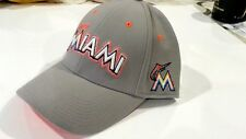 Authentic Unisex Gray Cap Hat MARLINS NIKE Swoosh Logo Embroidered Stretch Fit
