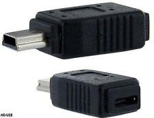 USB 2.0 Micro-B Female to Mini-B 5-Pin Male Adapter