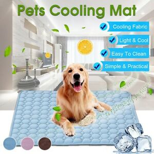 Dog Mat Cooling Summer Pad Dogs, Cat Bed Pet Cool Sleeping Puppy Self Washable d
