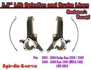 "3.5"" inch LIFT Spindles FITS 2003 - 2008 Dodge Ram 2500 3500 (1500 MEGA CAB) 2WD"