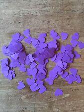 600 romantico Viola Carta Cuori Wedding tavolo Decorazione / confetti-1.5 cm