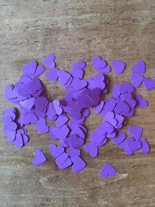 600 Romantic Purple Paper Hearts Wedding Table Decoration/Confetti-1.5cm