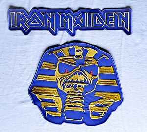 Iron Maiden  BACKPATCH Powerslave Tour Embroidered Eddie Sphinx LARGE New