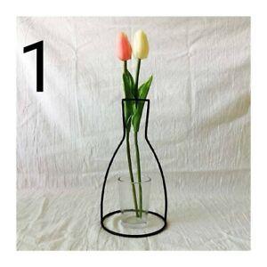 black metal silhouette vase line vase new