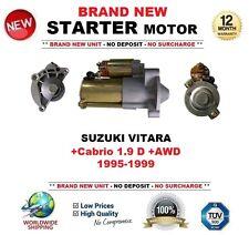 FOR SUZUKI VITARA +Cabrio 1.9 D +AWD 1995-1999 STARTER MOTOR 1.7kW 13 Teeth