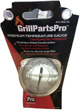 BRINKMANN GRILL Smoker BBQ STAINLESS STEEL Temperature Gauge Thermometer NEW