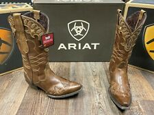 Ladies Zealous western fashion boot by Ariat. X toe. 12 inch. Sandstorm.
