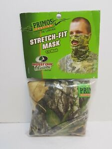 PRIMOS MOSSY OAK OBSESSION STRETCH FIT 1/2 TURKEY HUNTING MASK