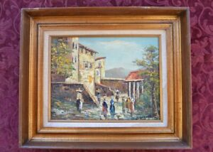 Mexican Scene Oil Painting - Signed 1972