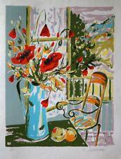 """""""Le Bouquet"""" Lithographie signée de ADDARI Elyane"""