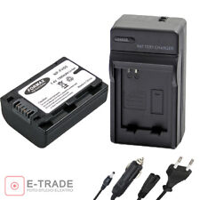 Battery + Charger for Sony np-fh50 DSLR a290 a330 a390 NPFH 50 np-fh30 np-fh40