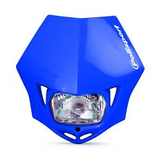 MMX Road Legal Universal Headlight Enduro Yamaha WR WRF YZ YZF 125 250 450 Blue