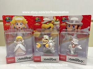 Nintendo Super Mario Odyssey Bowser Wedding Outfit Amiibo 3 Figurine Combo Pack