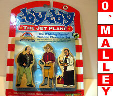 New RaRe Htf O`Malley family wood wooden figures characters Jay The Jet Plane