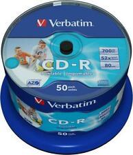 Verbatim CD-R 700 MB, CD Rohlinge 52fach DataLifePlus 50 Stück, Spindel