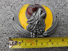 Gótico Aullidos Wolf Luna Correa Hebilla De Metal
