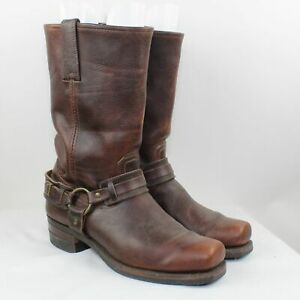 Frye Men's Brown Leather Harness Western Boots Size 11
