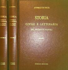 ANNIBALE DI NISCIA STORIA CIVILE E LETTERARIA DEL REGNO DI NAPOLI BRENNER 1993