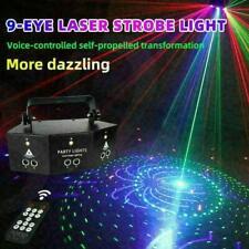 220 V Projektor 9-EYE RGB Laser Bühnenbeleuchtung Remote DJ Club Party Licht