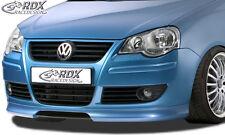 RDX Frontspoiler VW Polo 9N3 Front Spoiler Lippe Vorne Ansatz PUR ABS