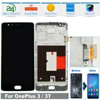 For OnePlus 3T LCD Display Frame +Button Touch Screen Digitizer Replacement 2H