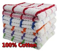 12 SUPER JUMBO TEA TOWELS CATERING QUALITY 100% COTTON EXTRA ABSORBENT 45 X 70cm