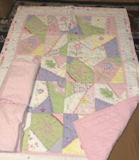 Crib Quilt Comforter Pottery Barn Toddler Baby 36� X 50� & 2 Fitted Sheets