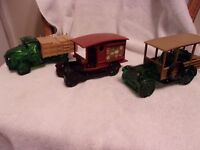 Vintage AVON aftershave bottles decanters lot of 3 trucks