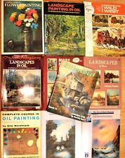 Lot of Art Books Paint Painting Oil Acrylic Artist How To