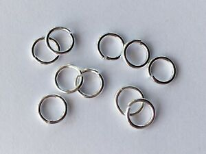 925 Solid Sterling Silver Strong Open Jump Rings 7mm - Quality Saw Cut JM