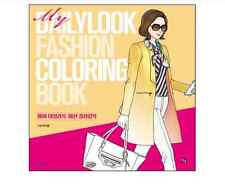 My Daily Look Fashion Coloring Book For Adults Gift Fun Relax DIY Hobby Clothes