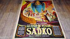 LE TOUR DU MONDE DE SADKO  !  rimsky korsakov affiche cinema  1952