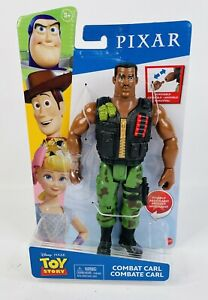 """New MATTEL Pixar Toy Story COMBAT CARL 9"""" ACTION FIGURE Posable Removable Hand"""