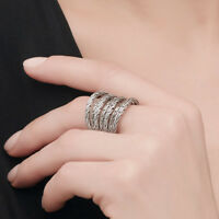 Punk Fashion 925 Silver Filled Fashion Jewelry for Women Party Ring Size 6-10