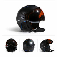 Outdoor Visor Ski Snowboard Helmet Detachable Snow Mask Integrated Goggle Shield